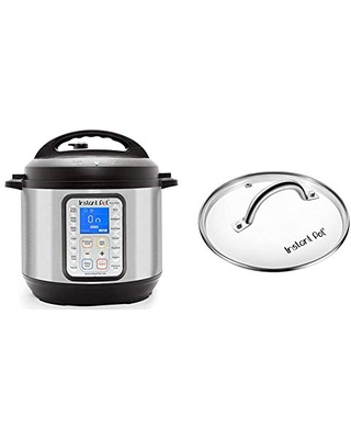 Duo Plus 9 in 1 Electric Pressure Cooker Sterilizer Slow Cooker Rice Cooker Steamer saute 15 One Touch Programs & Tempered Glass Lid 9 in - instant pot
