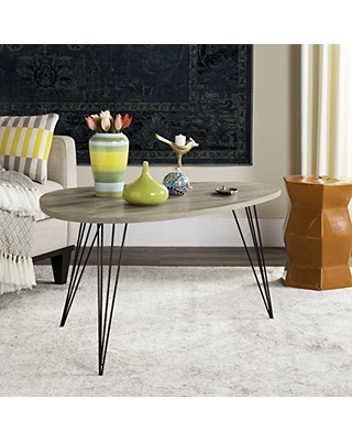 Home Collection Rocco Retro Mid Century Light Oak and Wood Coffee Table - safavieh