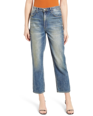 High Waist Ankle Straight Leg Jeans at Nordstrom - lee