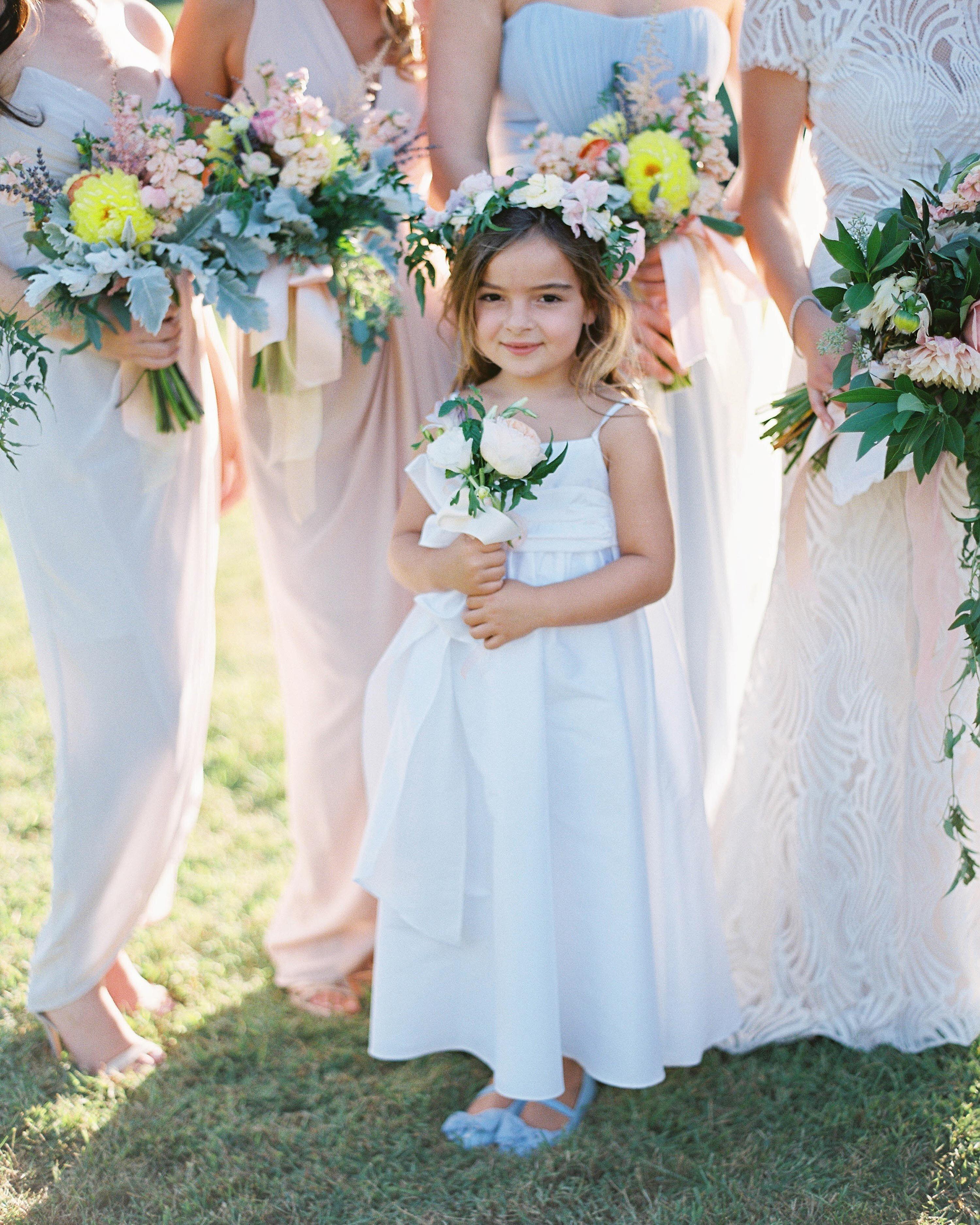 6 Tips For Choosing A Flower Girl Dress Martha Stewart Weddings
