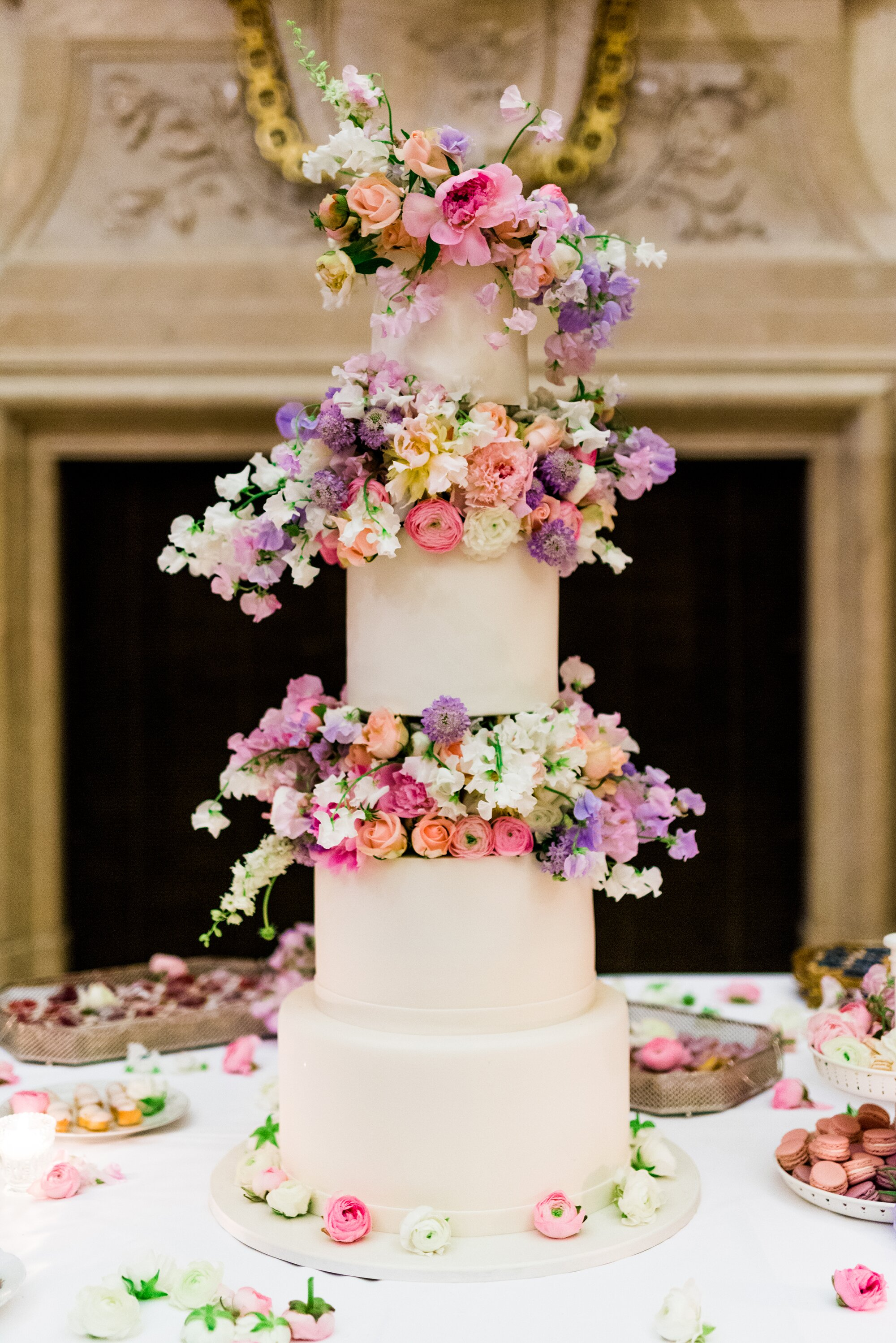 Trending Now Wedding Cakes With Floral Tiers Martha Stewart