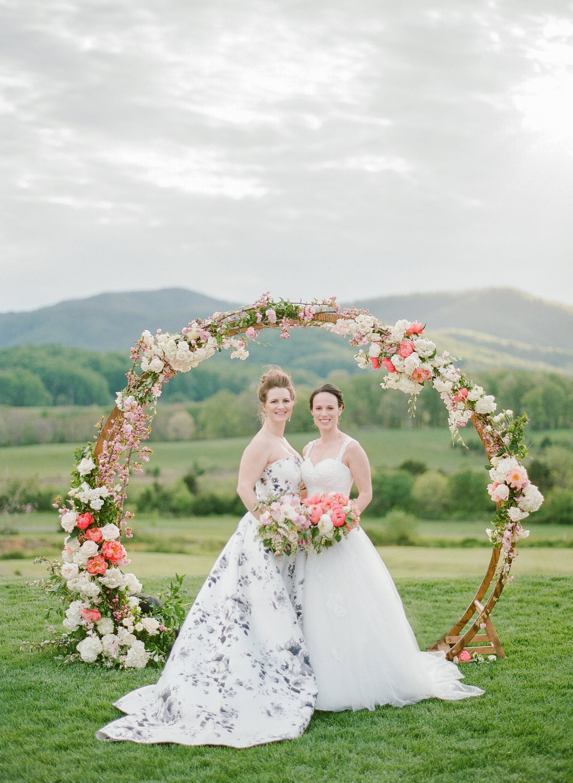 These Brides' Cherry Blossom-Inspired Wedding Unfolded in a ...