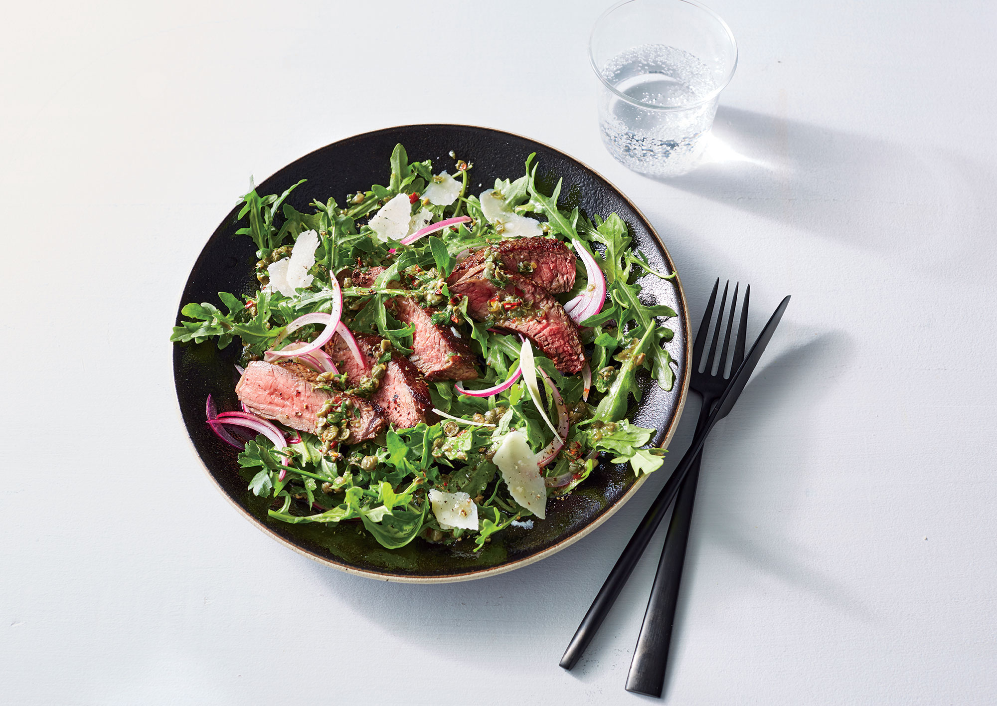 Steak Salad with Salsa Verde Vinaigrette