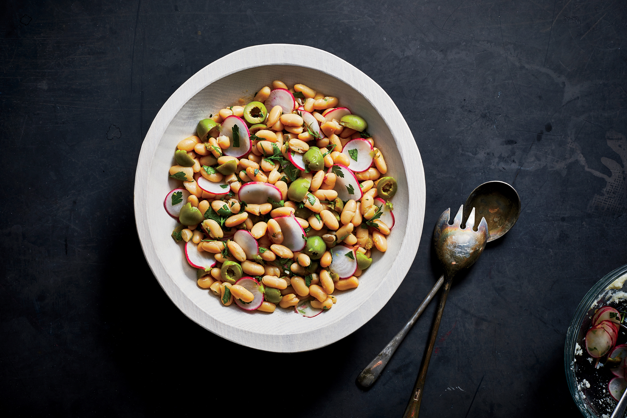 Radish, White Bean, and Olive Salad