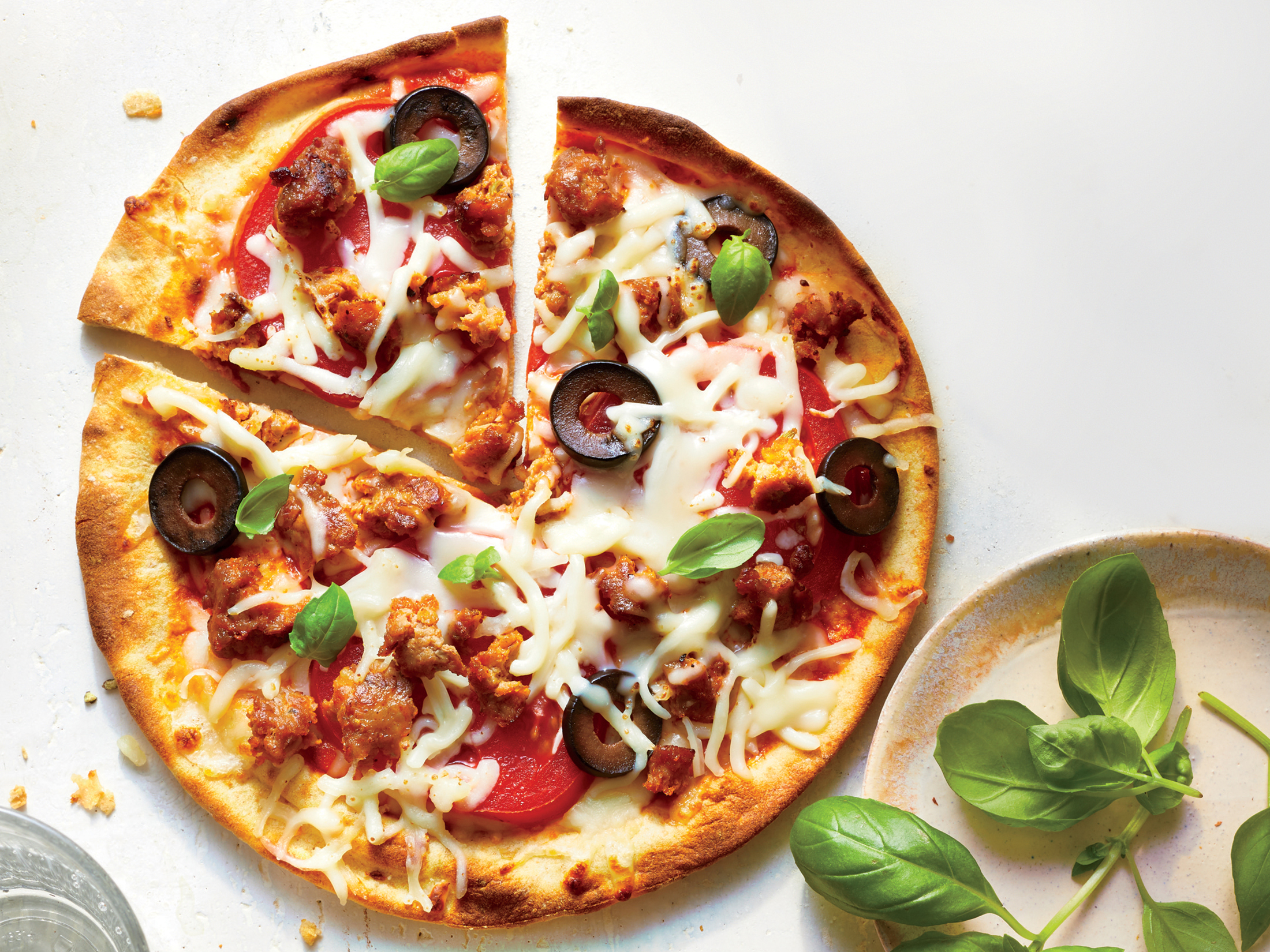 Sausage and Tomato Mini Pizzas