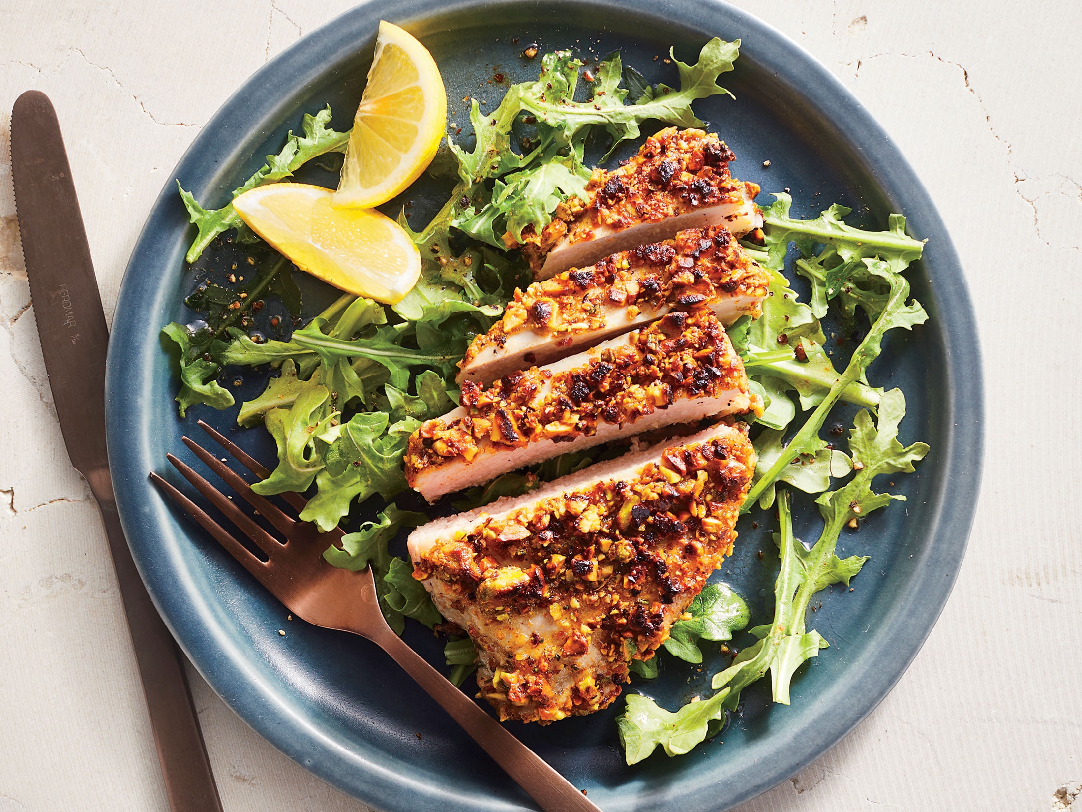 Pistachio-Crusted Pork Cutlets