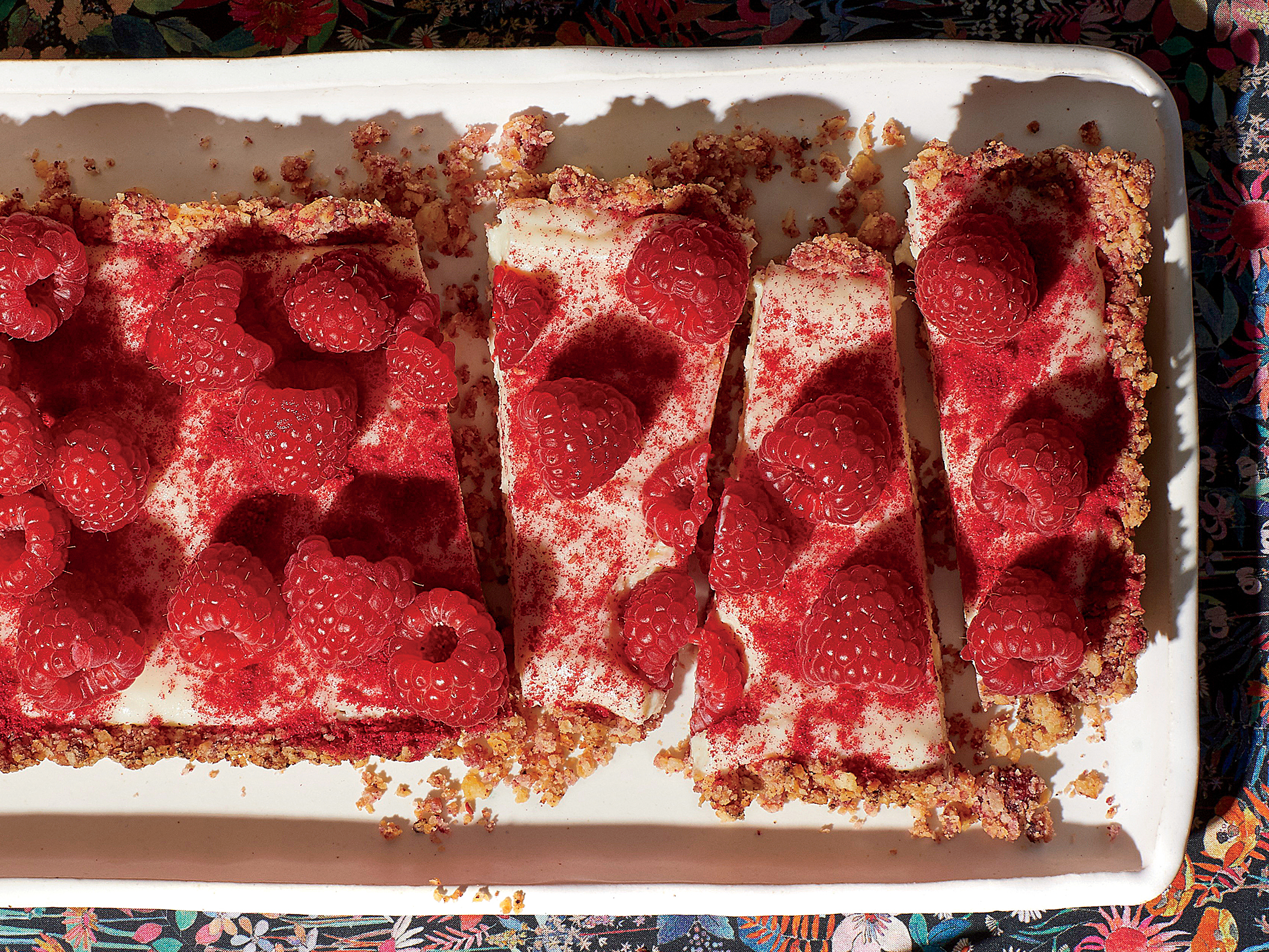 White Chocolate–Raspberry Tart