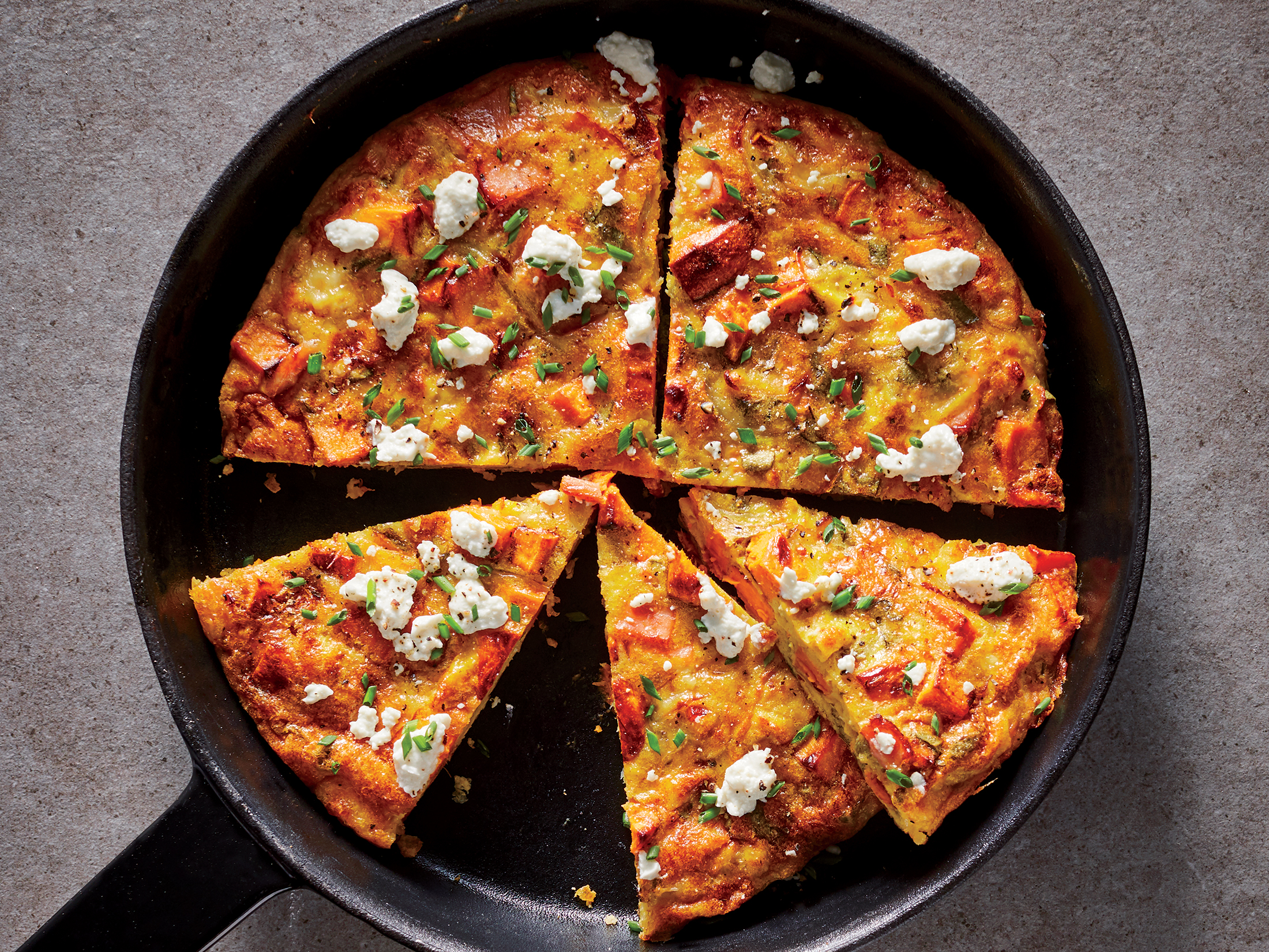 Sweet Potato and Bacon Frittata