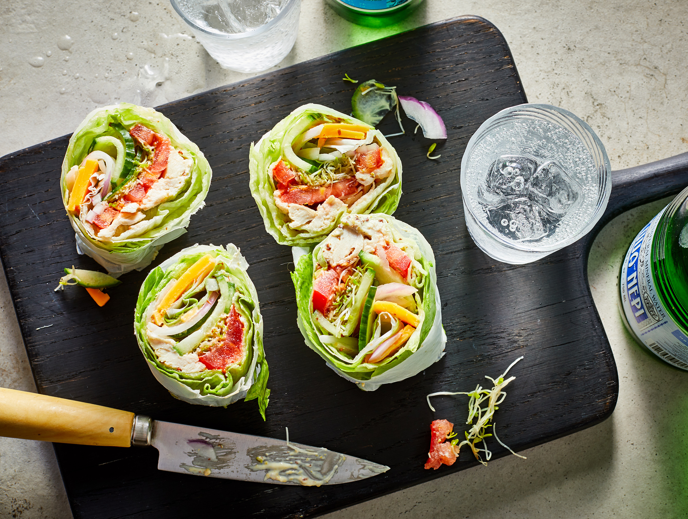 Low-Carb Chicken And Cheddar Lettuce Wraps