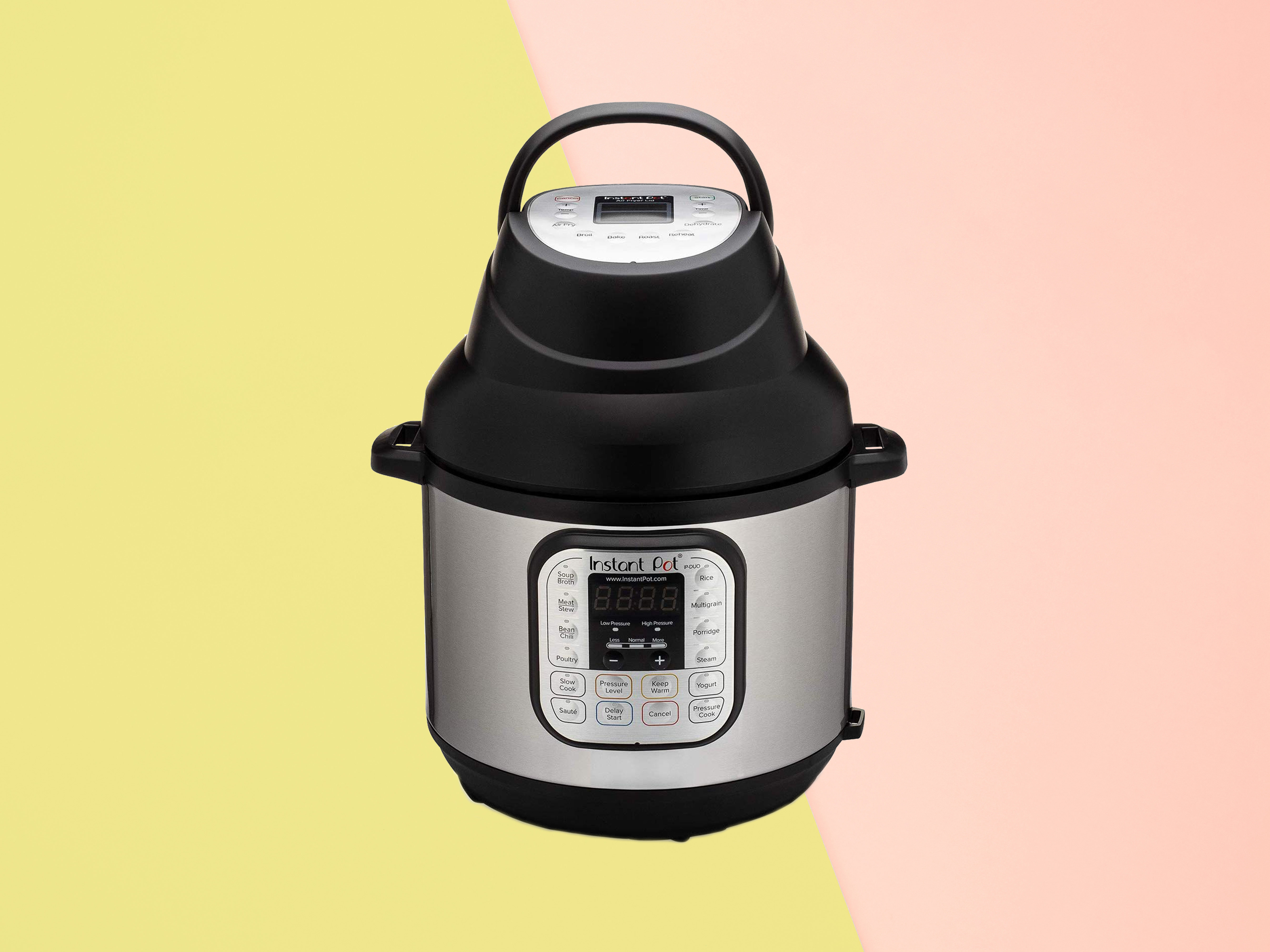 Instant Pot Lid with Roast Bake, Broil, Reheat Air Fryer Tout