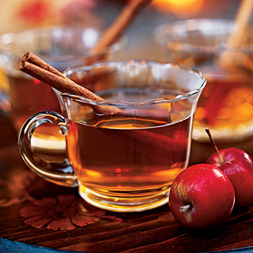 Spiced Cider: Kick off the party with a warm welcome.