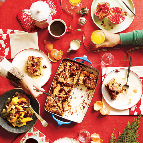 Our cozy Christmas breakfast menu includes easy, make-ahead casseroles that deliver comfort to the table. YUM!