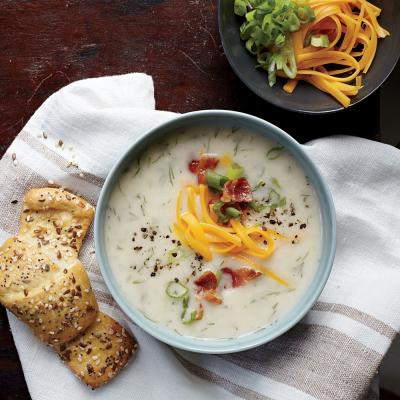 Loaded Mashed Potato Soup. Photo: Jennifer Causey
