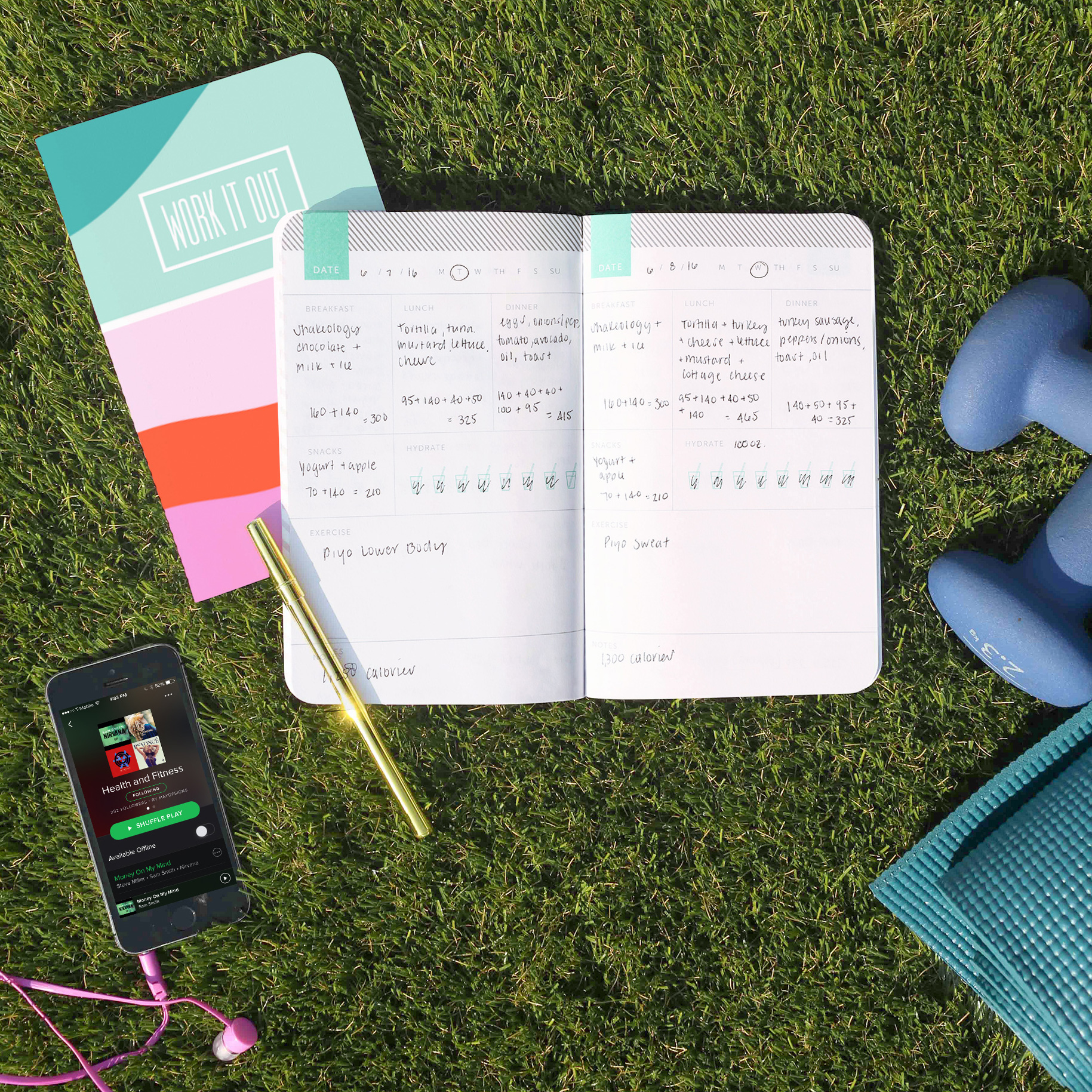 The New Year is just around the corner, so provide the healthiest people on your gift list with a dedicated space to record their goals for next year. May Designs offers a customizable journal that includes 76 pages where you can track your meals, snacks, water, and exercise habits. Their Classic size fits perfectly in gym bags or purses so tracking is never a hassle. Starts at $18, maydesigns.com