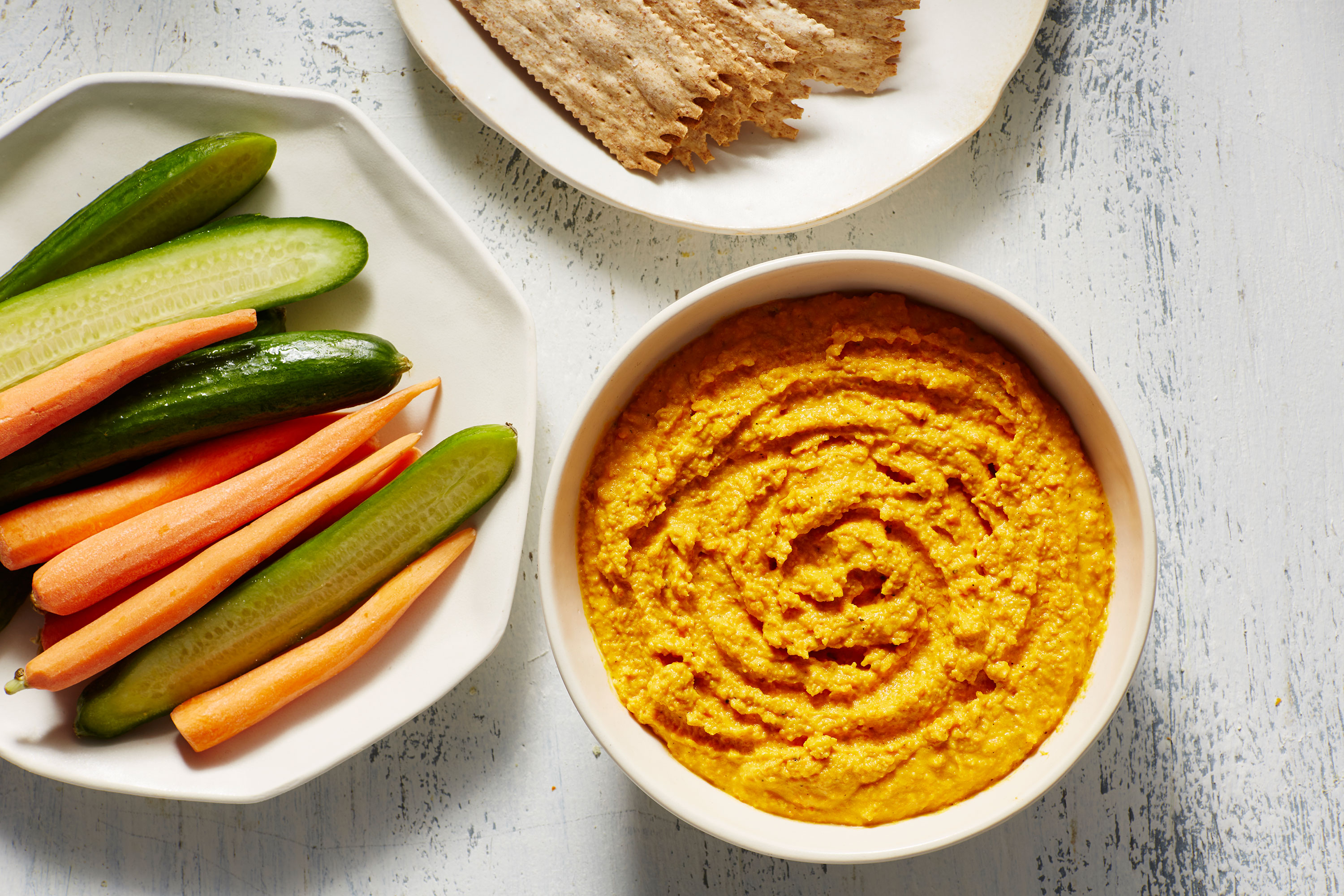 Roasted Carrot and Chickpea Hummus