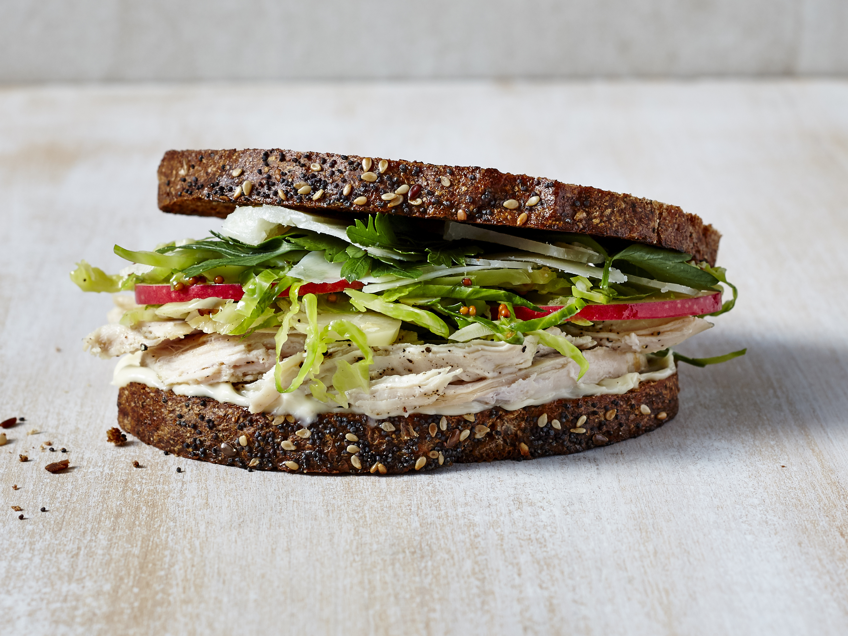 Apple, Turkey, and Brussels Sprouts Sandwich