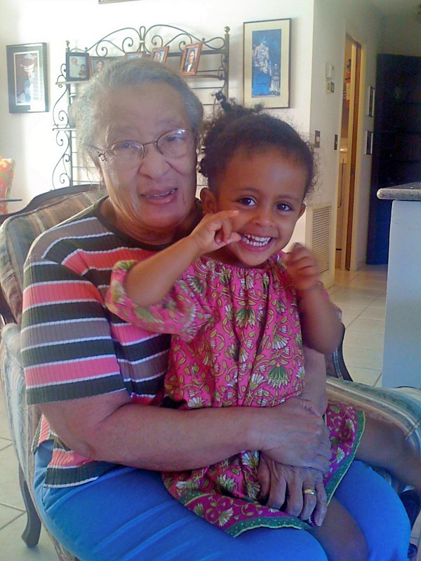 My Mother, Suzanne Elsoffer, with my daughter Betelihem, 2012
