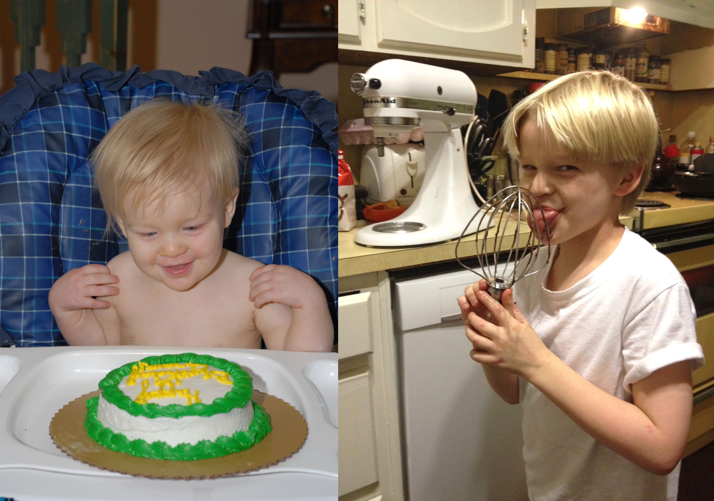 Our son's first birthday cake caused severe skin and respiratory reactions. We subsequently discovered he was allergic to wheat and other ingredients. These days he makes his own cakes and many of his own food choices.