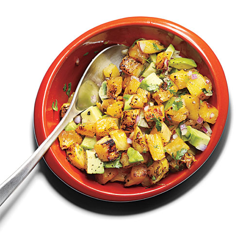 Grilled Pineapple-Avocado Salsa