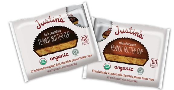 1. Justin's Organic Peanut Butter Cups: Justin's of nut butter fame came out with bags of individually wrapped organic Peanut Butter Cups just in time for Halloween. At an informal tasting, CL staff raved over both the Milk and Dark Chocolate flavors, with the Dark Chocolate coming in as the clear favorite. We loved the touch of sea salt in both flavors and, best of all, there's significantly less sugar in these cups than Reese's.