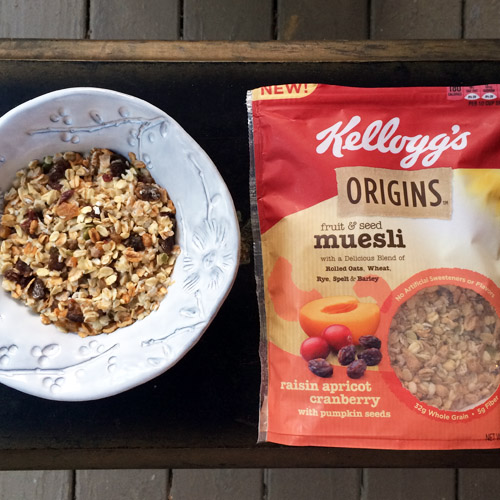 Kellogg's Origins fruit & seed muesli prepared  oatmeal-style.  Photo: Hanna Butler