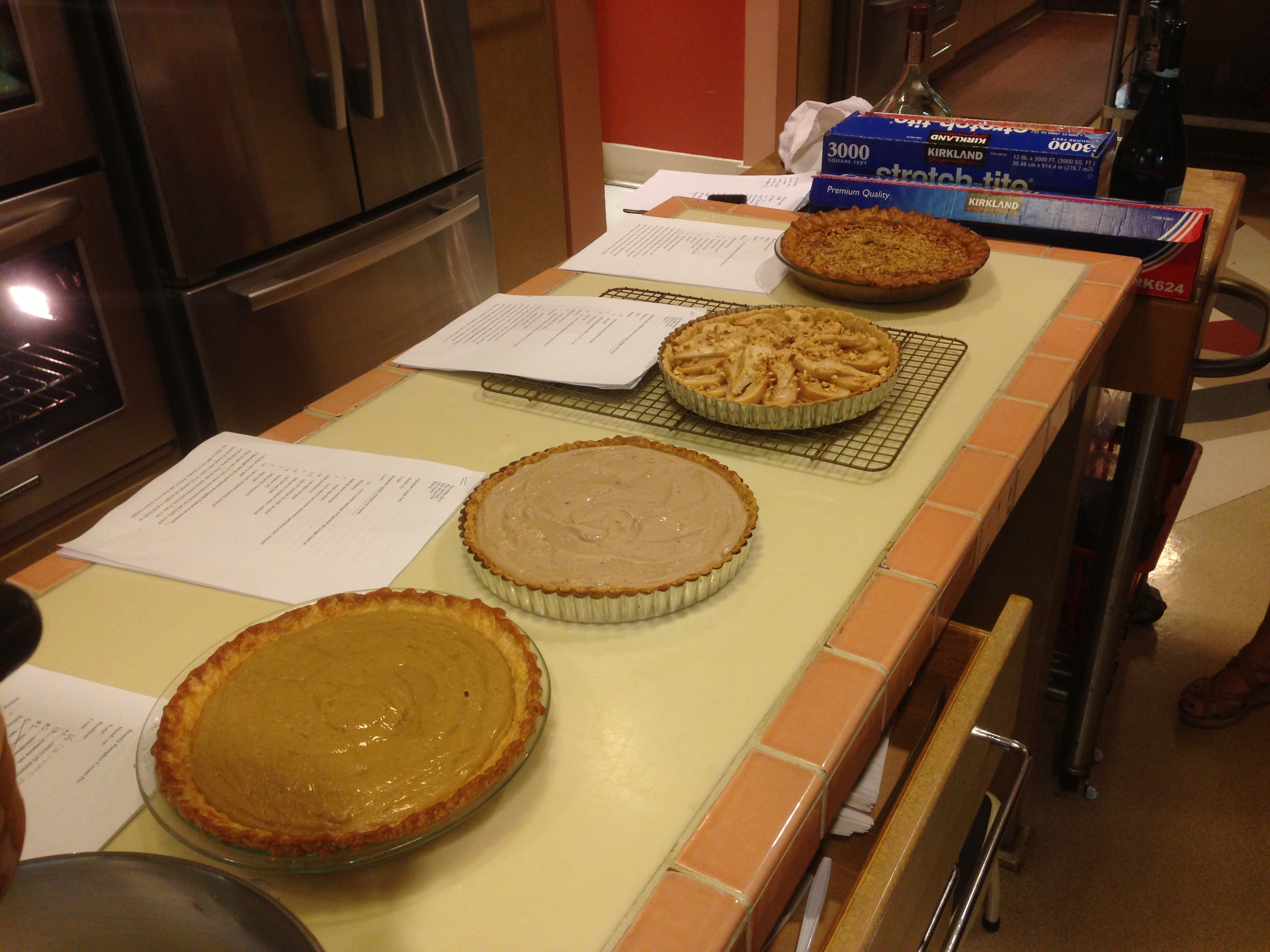 A recent pie tasting in the Test Kitchen. It's a wonderful duty to taste the food in the Cooking Light Test Kitchen, but I find it hard not to oversample. To meet my weight-loss goal, I'm reducing my visits to one or so a week.