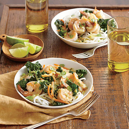 Thai Green Curry Shrimp with Kale