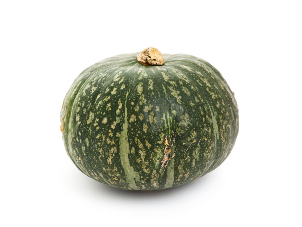 Kabocha Squash with white background