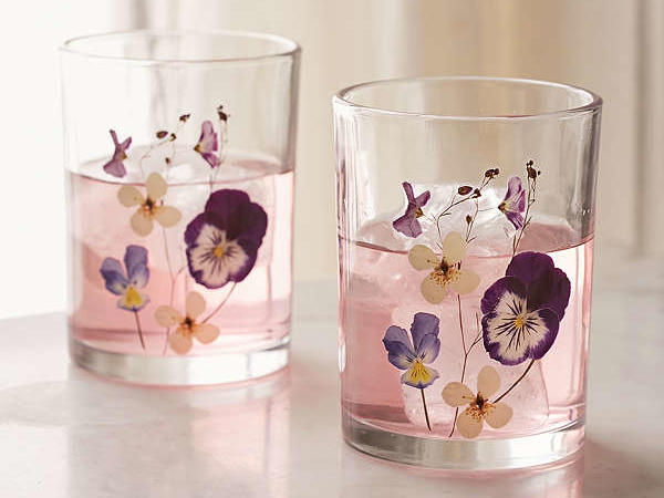 1707w Floral Glasses