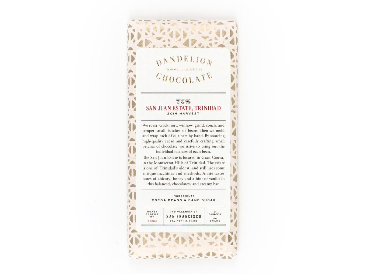 Dandelion Single-Origin Chocolate Trinidad