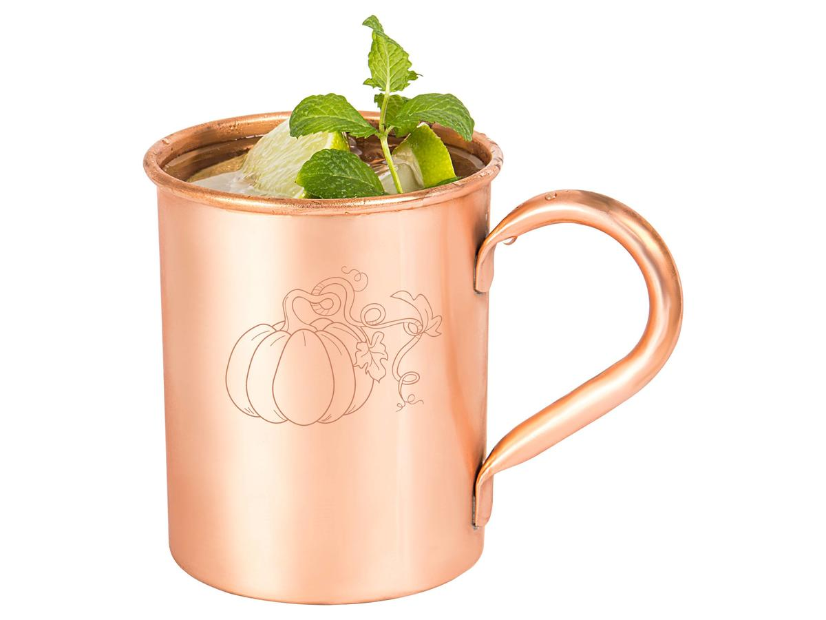 1708w- Pumpkin Copper Mug