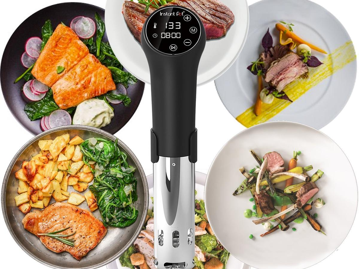 Instant Pot Sous Vide Immersion Circulator with food