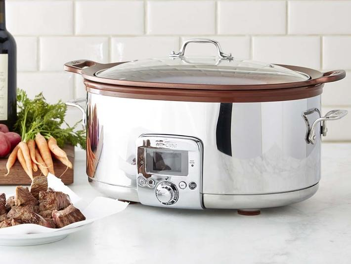 All-Clad Gourmet Slow Cooker with All-in-One Browning, 7-QT