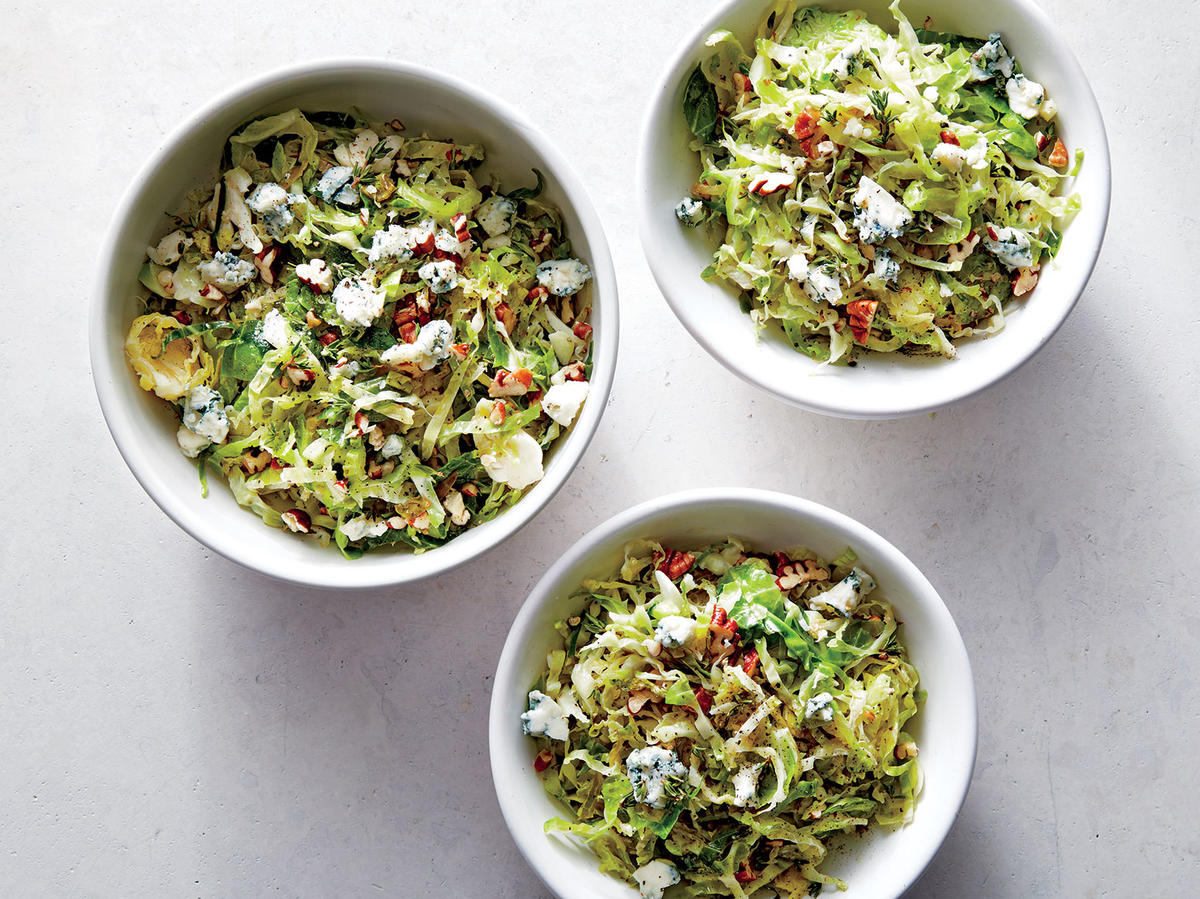 Brussels Sprouts Sauté with Pecans and Blue Cheese