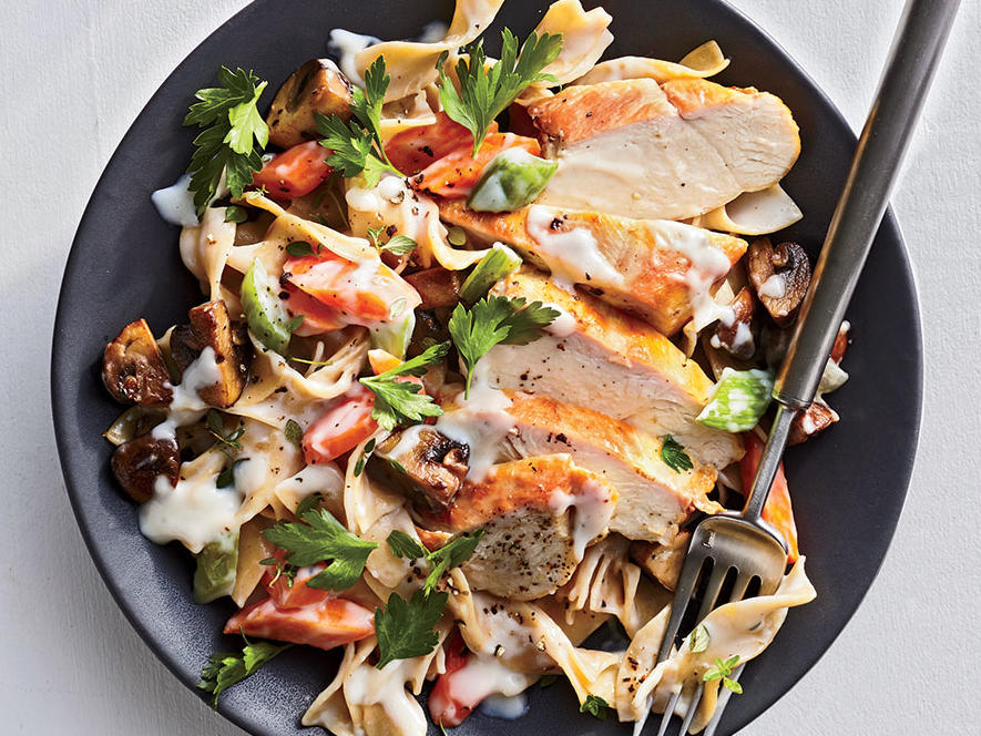 Chicken Fricassee with Browned Butter Noodles