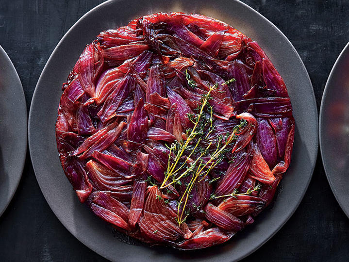 Balsamic Onion and Thyme Tarte Tatin