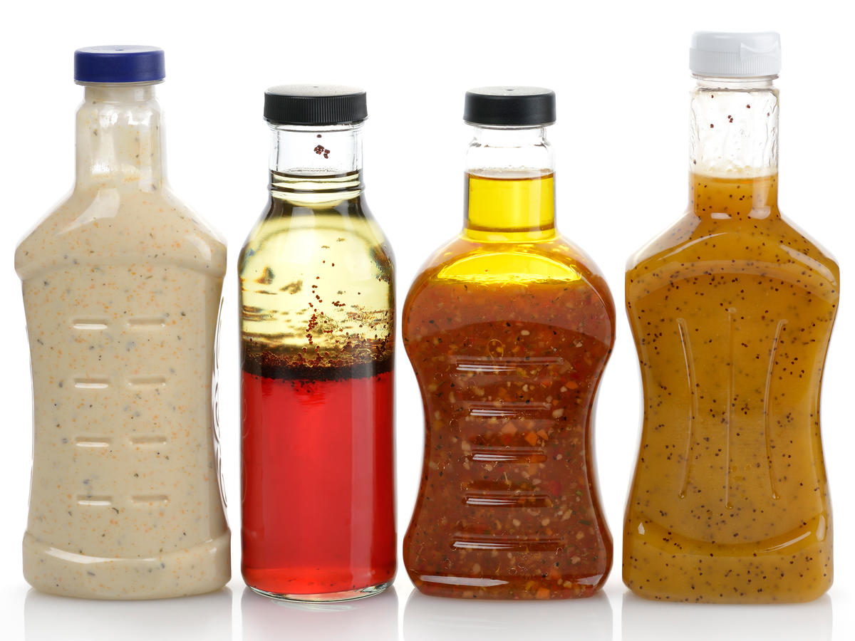 Salad Dressings in Plastic Bottles