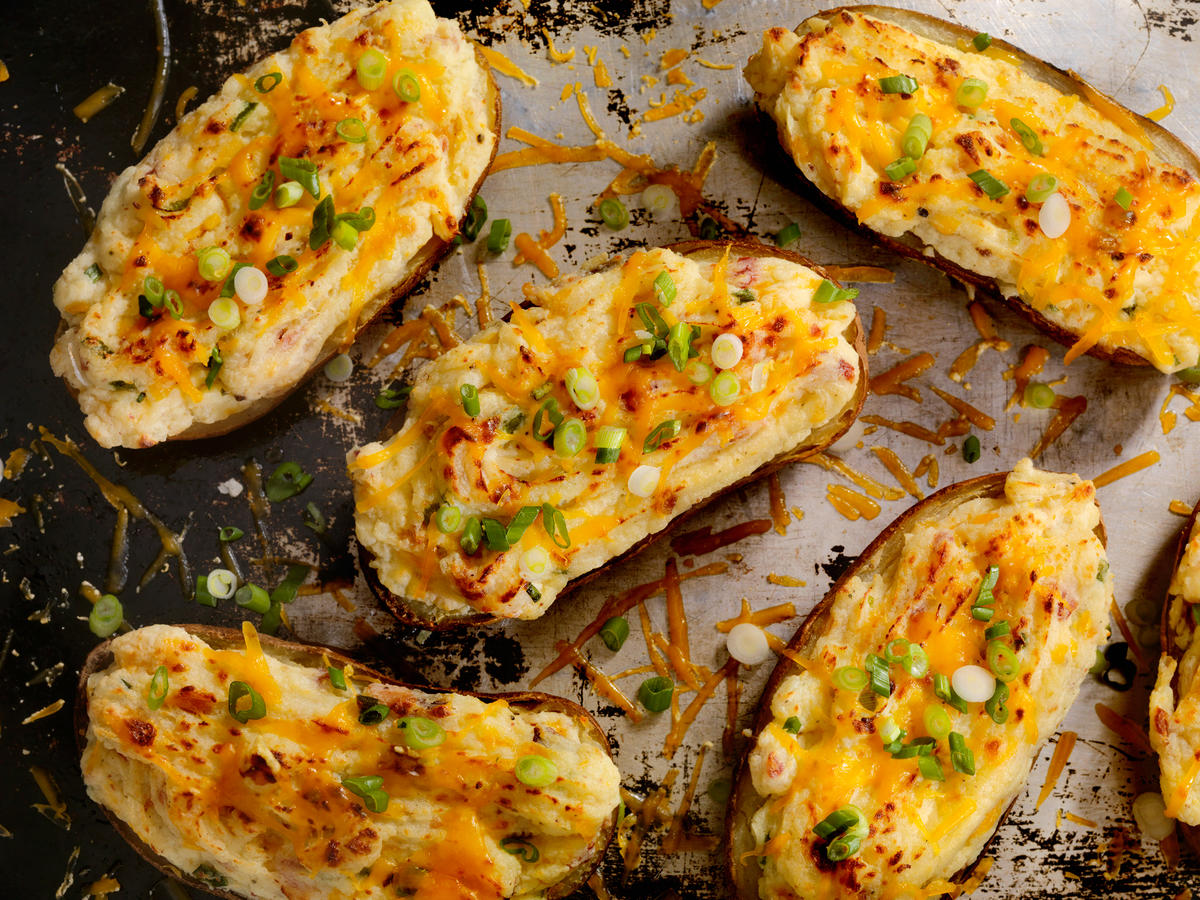 Bacon-Chipotle Twice Baked Potatoes