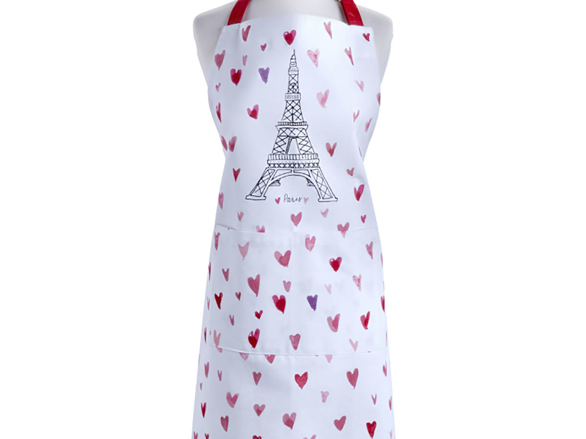 Eiffel Tower heart kitchen apron