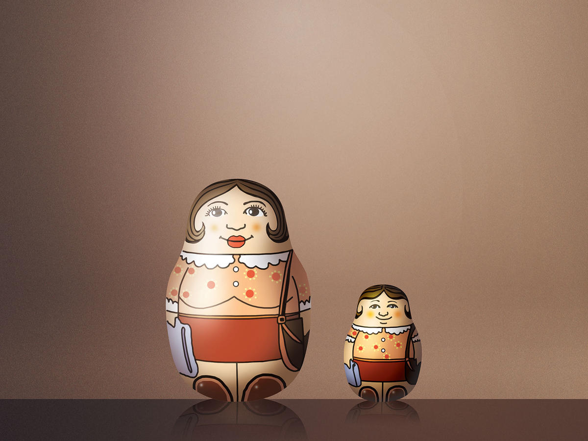 Mother Daughter Nesting Dolls