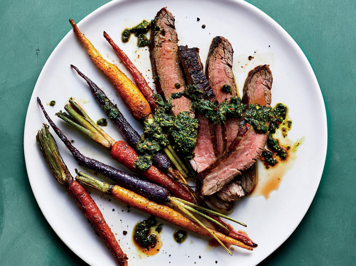 Steak and Carrots with Parsley Pesto