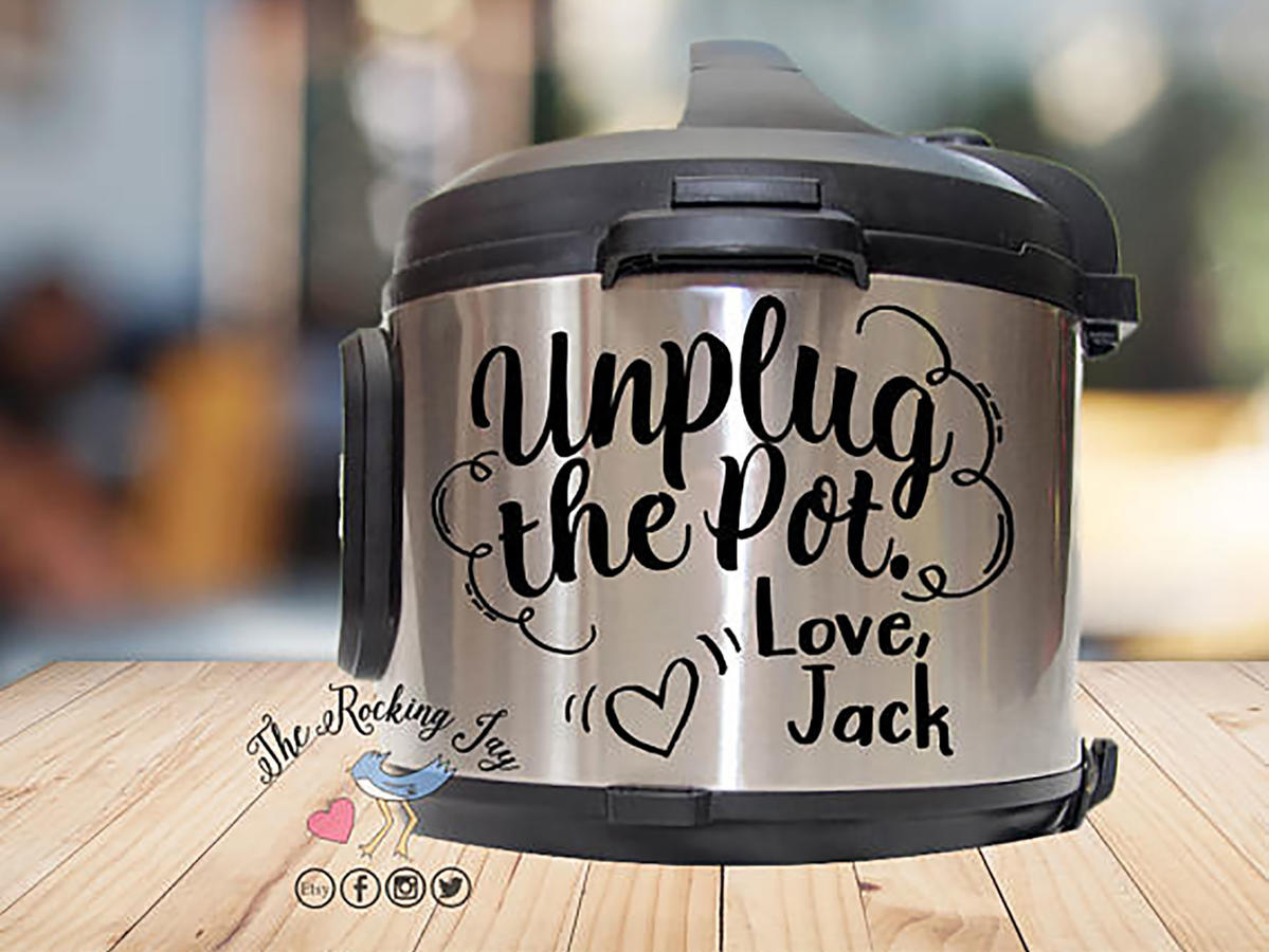 this is us slow cooker decal unplug the pot
