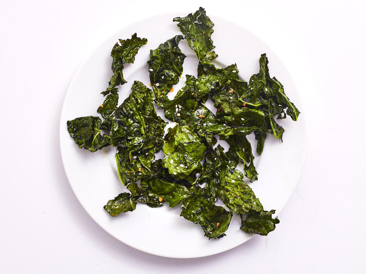 Air-Fried  Everything Bagel  Kale Chips