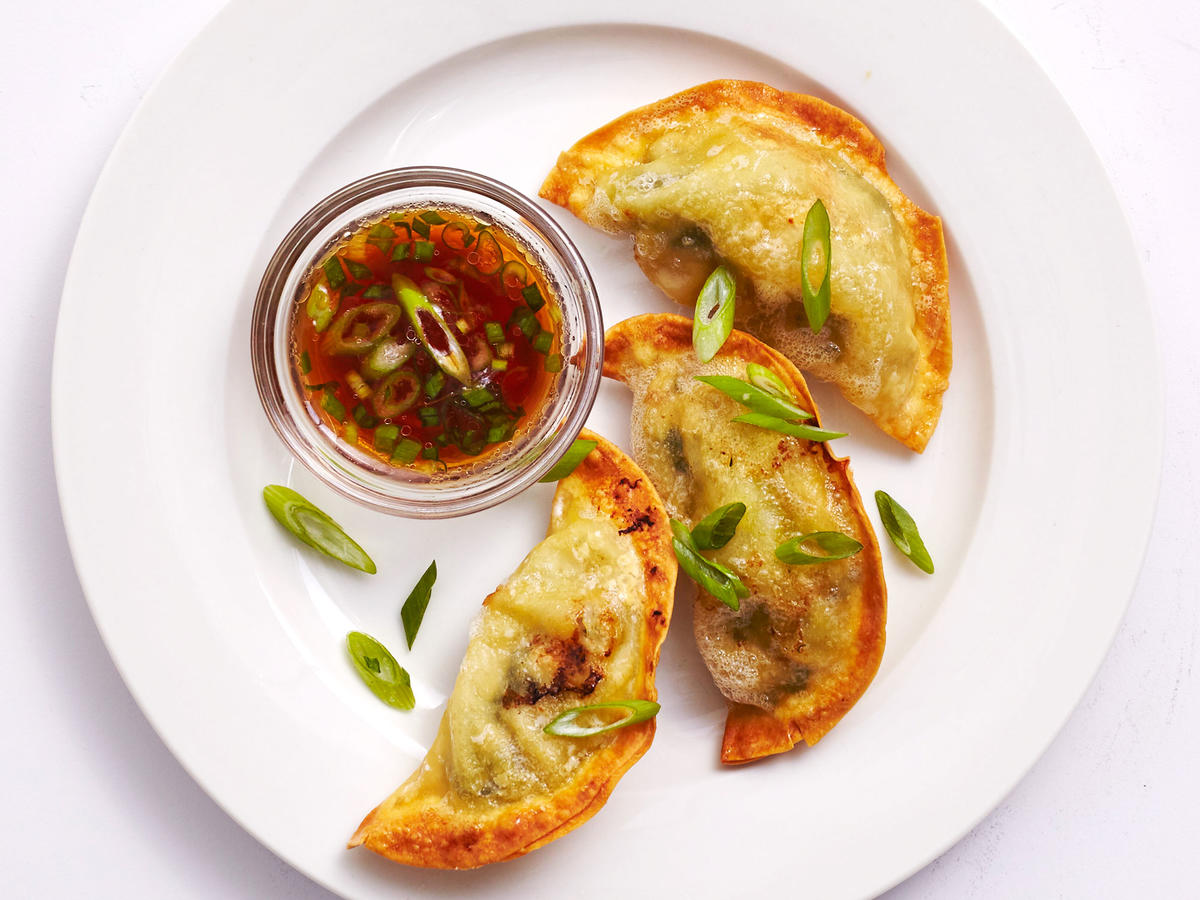 Air-Fried Pork Dumplings With Dipping Sauce