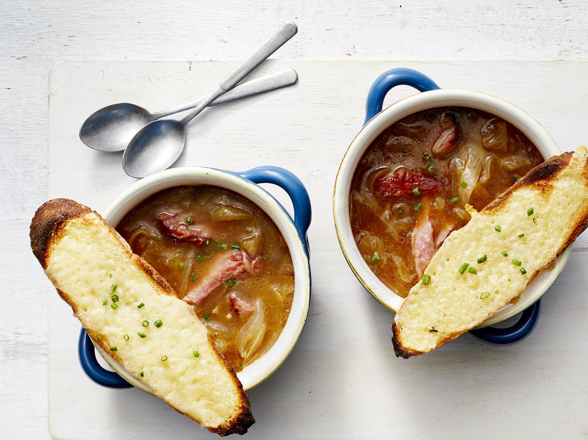 French Onion Soup with Ham