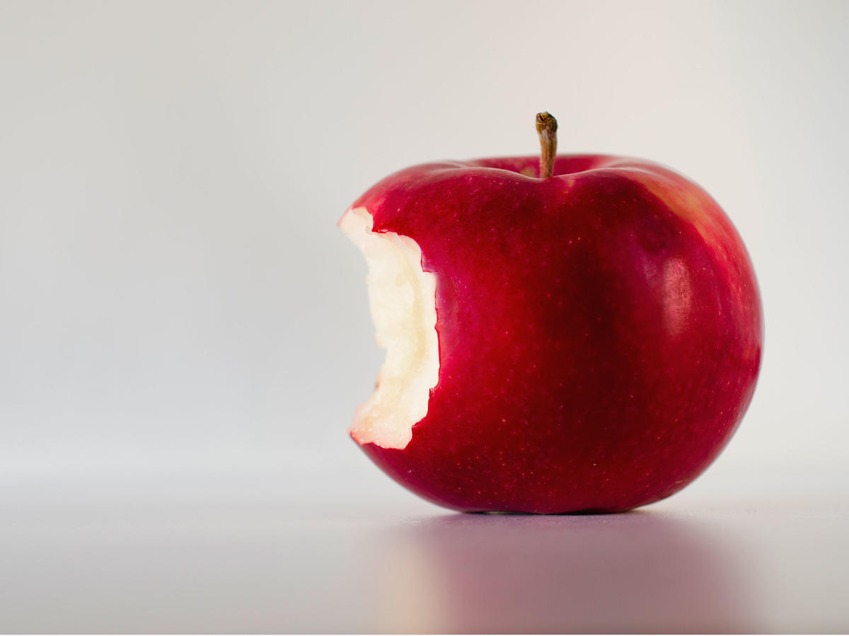 Apple with a bite