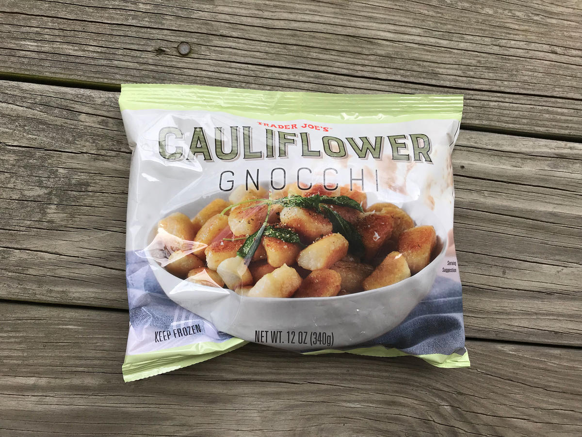 1804w Trader Joe's cauliflower gnocchi bag