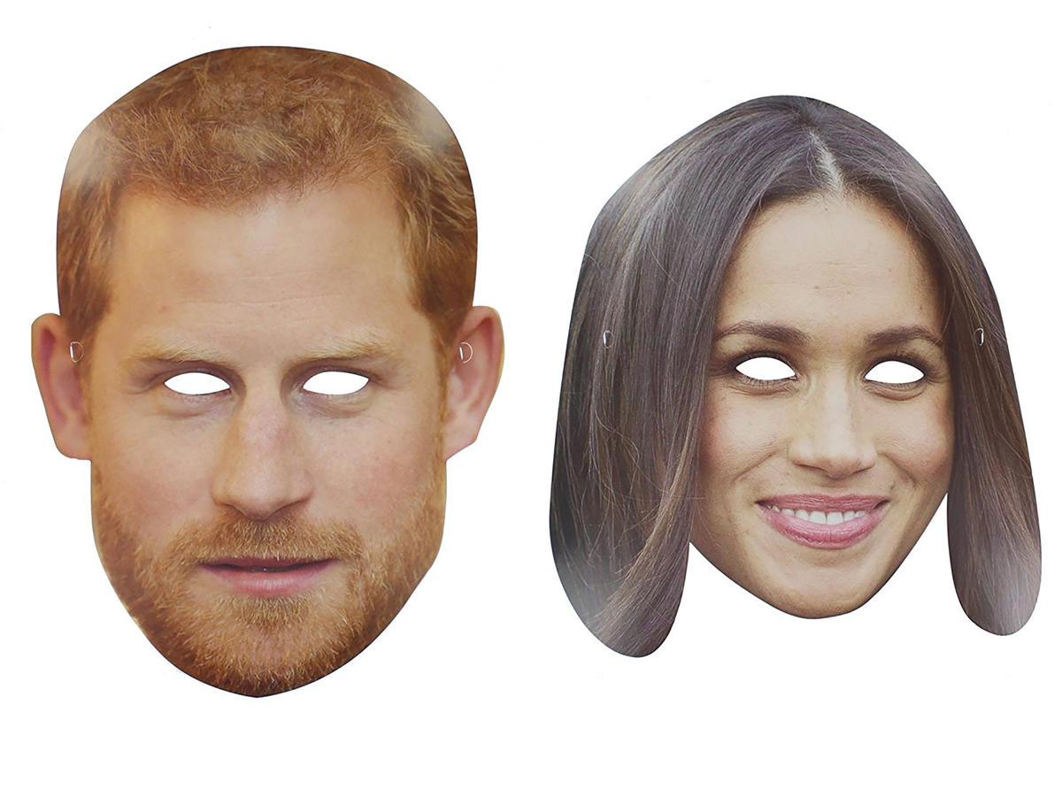 1805w Harry and Meghan Markle Face Masks