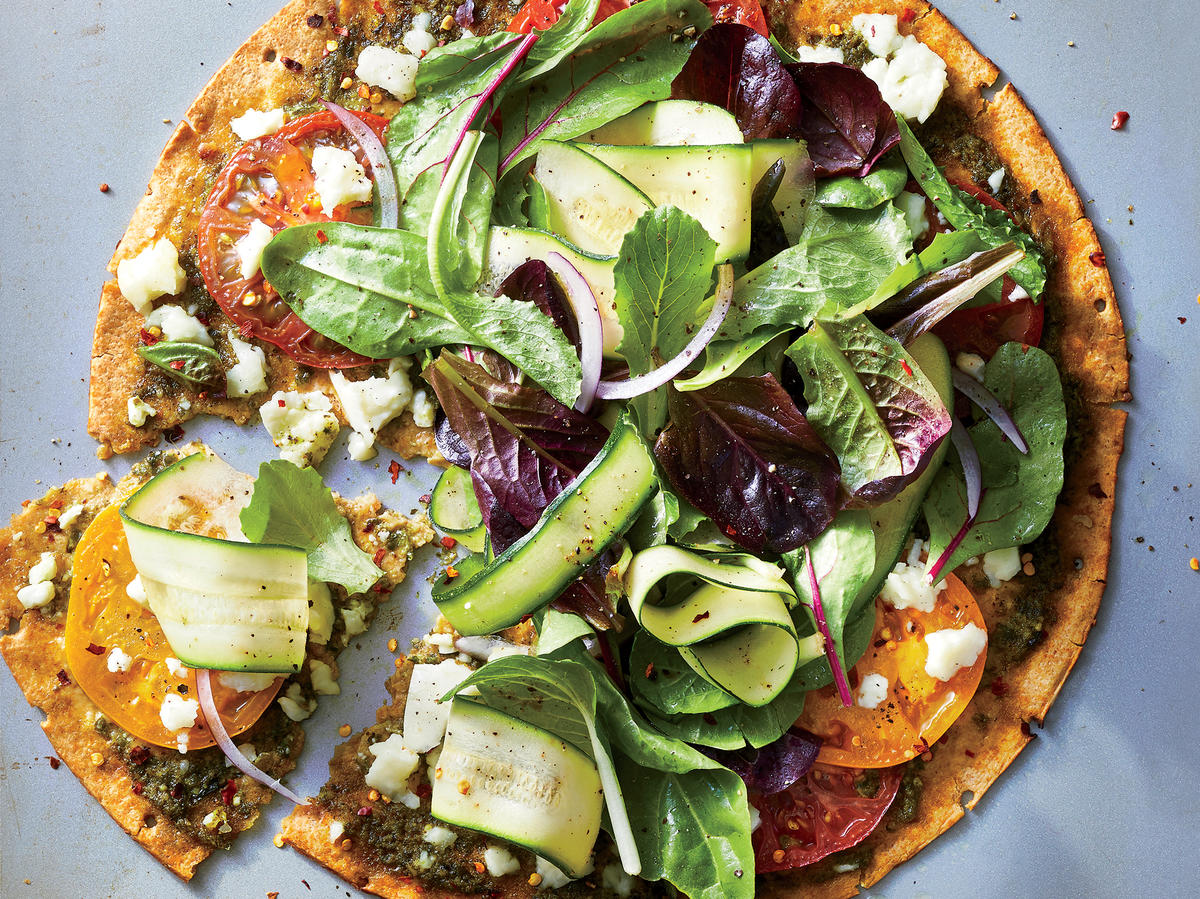Extra-Crispy Veggie-Packed Pizza