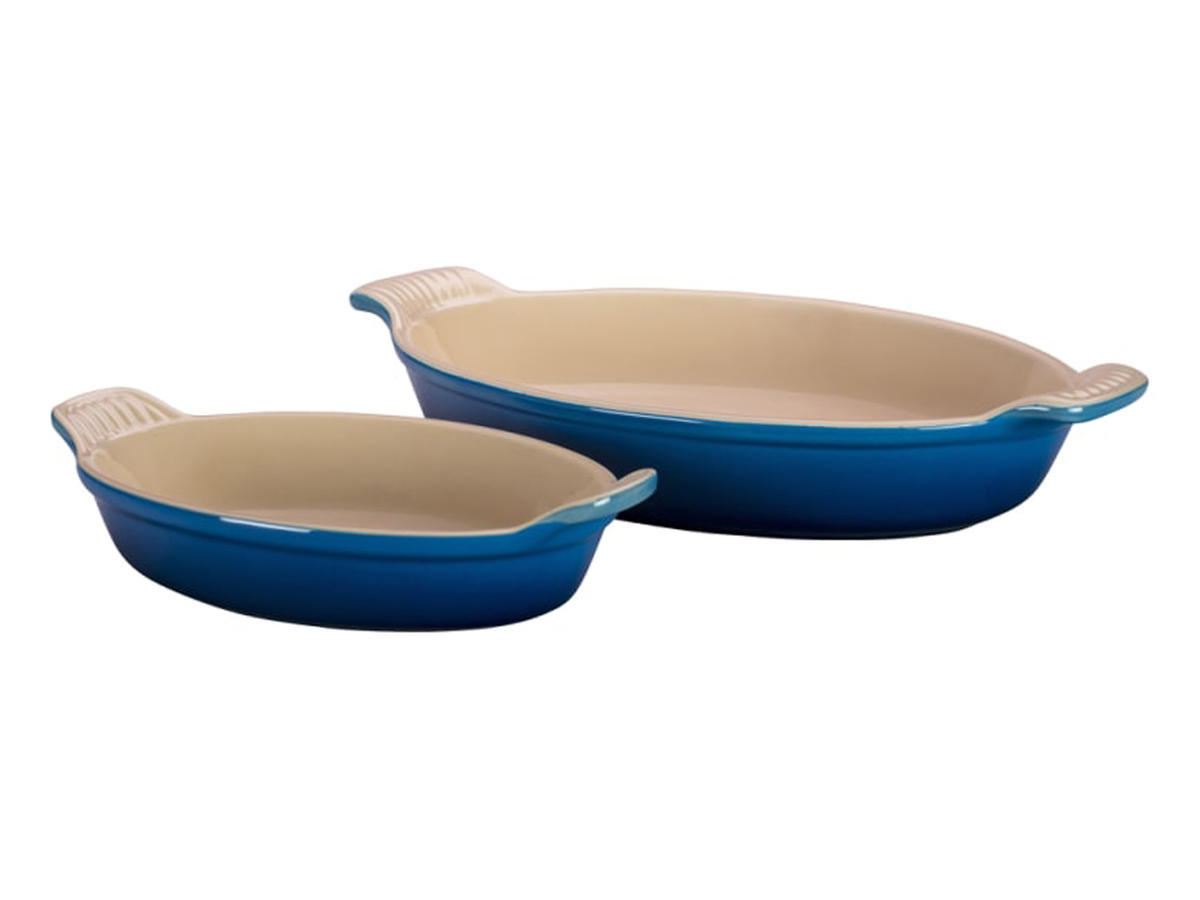 Le Cruset Heritage Set of 2 Oval Au Gratin Dishes